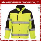 Vêtements de travail résistants au feu charbonniers industriels de sûreté de sergé (ELTHJC-492)