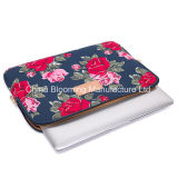 Fashion Lady Flower Print 600d Polyester 11inch Laptop Sleeve Bag