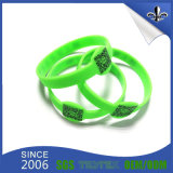 O dobro popular do estilo de Debossed tomou o partido Wristband do silicone