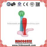 Цветастая крытая пластичная игрушка с обручем футбола