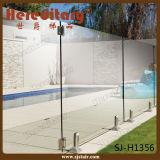 コアによってあけられるステンレス鋼のバルコニーの柵のガラス栓(SJ-H006)