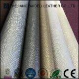 Metallische Oberfläche Belüftung-PU-synthetisches Leder für Möbel-Polsterung und Ausgangsweiche Dekoration