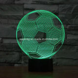 3D lampe du football de l'illusion DEL