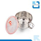 Fein, 304 Edelstahl-sofortige Nudel-Cup u. Filterglocken mit Griff und Kappe polierend