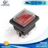Inverseur à rappel en gros de bouton rouge de Pin 250V de Kcd4-101fs 4