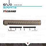 Tacband freier Gleitbetrieb Keymod 16.5 Zoll Handguard W/Picatinny Spitzenschienen-flache dunkle Masse
