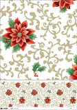 Navidad desechables de PVC Material Plástico Mantel / Cubierta de mesa / Camino de Mesa