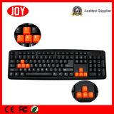 8台のカラーKeycapsはキーボードMutil言語ゲームのコンピュータのキーボードを防水する