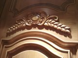 Puerta de madera doble estilo europeo con talla para Villa (DS-9010)