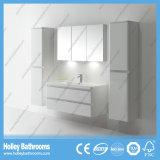 Vaidade de venda quente do banheiro com espelho e os 2 gabinetes laterais (BF381D)