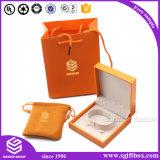 Caja de joyería de color puro conjunto de pendientes de embalaje collar