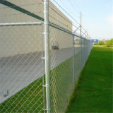 """4 """"網PVC上塗を施してあるチェーン・リンクの塀"""
