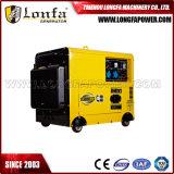 小さい携帯用Air-Cooled 5kw/5kVA 100%の銅線の無声ディーゼル発電機