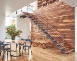 فولاذ حادّة مستقيمة خشبيّة تصميم درج فراغ توفير