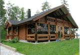 木の表面1の階の鉄骨構造の製造された家