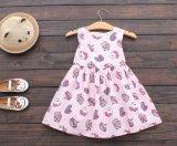 Kleine Mädchen-Sommer-Fußleisten-Rosa gedruckte Prinzessin Dress