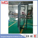 De buiten Deuren van het Glas van het Aluminium met het Scherm van het Staal van de Veiligheid
