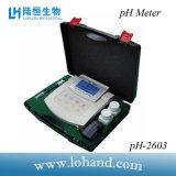 Medidor de pH de la tapa del banco de la alta calidad con Atc (pH-2603)