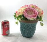 홈 또는 사무실 훈장 인공 꽃 세라믹 화분에 심는