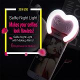 Проблесковый свет Rechangeable формы 38 СИД Selfie сердца с зеркалом