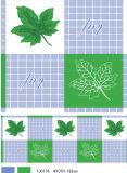 Teste padrão e forma impressos PVC Tablecover impresso PVC do quadrado com revestimento protetor (TJ0088)