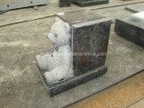 Petite pierre tombale de bébé de livre de nounours de granit