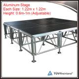 調節可能な高さの足を搭載するアルミニウム携帯用移動式段階