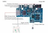 2017 Doos van de Doos Q van 6.0 TV van de Kern van de Vierling S905 de Androïde laadde S912 volledig Doos 2g/16g WiFi