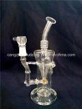 La meilleure belle pipe en verre claire fabriquée à la main de vente de fumée de tabac de narguilé