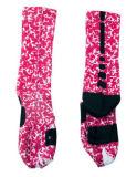 Rosafarbene Unisexsport-Kleid-Socke für das Laufen