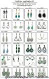 Серьга розничной цены серебряная с голубым Gemstone для рынка Индии (E6921B)