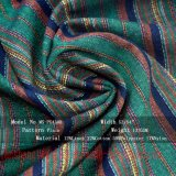 O fio de linho do algodão do poliéster de rayon tingiu a tela para a saia do vestido
