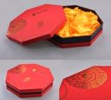 Подгонянный ящик кладет шестиугольную коробку конфетной бумаги вырезывания лазера формы/коробку в коробку еды