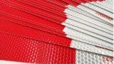 Anhaftendes reflektierendes Band PUNKT 3m rotes Weiß