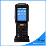 Scanner androïde terminal de code barres de PDA 3G de radio de loterie tenue dans la main mobile raboteuse de position