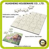 Heißer Verkauf des unbelegten Hartfaserplatte-Puzzlespiels für Sublimation von China