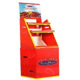 Color personalizado Snack-reciclado ondulado volcado Bin / Papelera de cartón Display / cartón Papelera