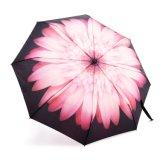 Зонтик дождя автоматического компактного зонтика листьев дуба складной для легкий носить