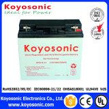 Batterie rechargeable d'acide de plomb de gel de la qualité 12V 18ah, batterie solaire