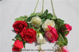 Umweltfreundliche künstliche Rosen-Blumen-Fälschungs-Rosa-Blume für Dekor