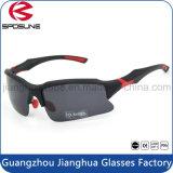 Insignia de encargo promocional de ciclo polarizada negro Eyewear que monta de conducción ULTRAVIOLETA anti de los vidrios de Sun del deporte