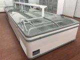 Congelador de vidro curvado Aht superior da caixa do gelado da porta da qualidade