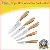 5 PCSの台所ステンレス鋼のナイフの一定の台所焦げ付き防止の絵画ナイフセット
