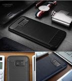 Caisse dure de fibre hybride de carbone de PC des Accessoires boîtier TPU de téléphone cellulaire pour le bord de la galaxie S7 S7 de Samsung