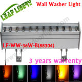 Luz al aire libre de la pared de 12PCS 3in1 LED DMX512, luz del soporte de pared