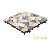 庭のための屋外の防水自然なTravertineの石のデッキの床タイル