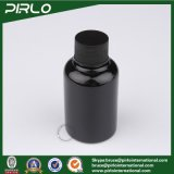 [50مل] غير منفذ سوداء لون محبوب بلاستيكيّة غسول زجاجة مع سوداء أسطوانة غطاء بلاستيكيّة مستحضر تجميل غسول زجاجة