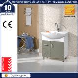 足を搭載する熱い販売の白いラッカー木の浴室の虚栄心のキャビネット