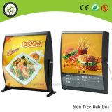 간이 식품 메뉴 널 방수 알루미늄 호리호리한 LED 가벼운 상자
