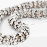 Armband van de Diamanten van het Kristal van de Kabel van Bracelets&Bangles van vrouwen de Elastische Vrouwelijke Met de hand gemaakte